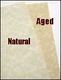 Aged Parchment Paper and Natural Parchment Paper