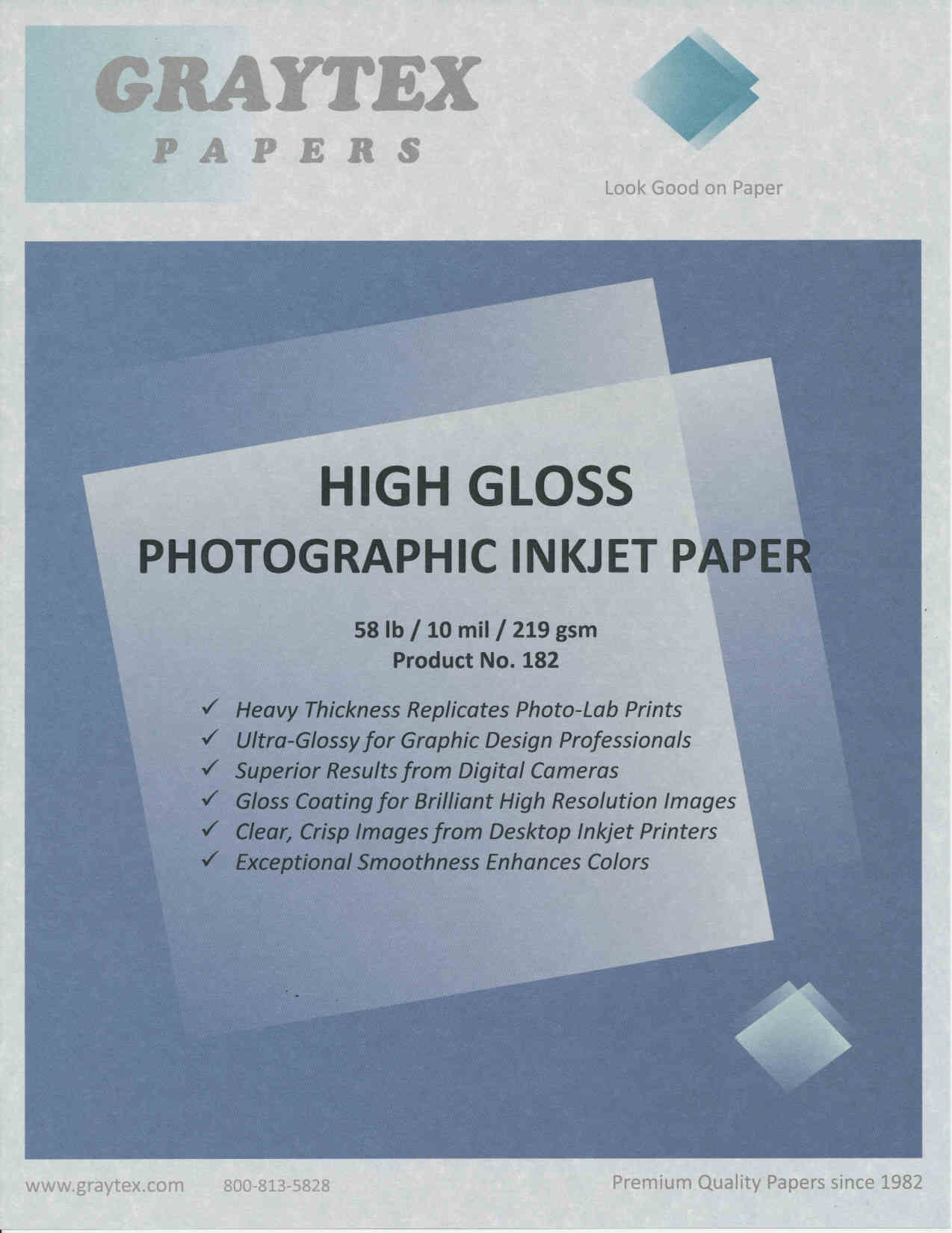 Inkjet Photo Papers for One or Two-sided Photograph-like Prints