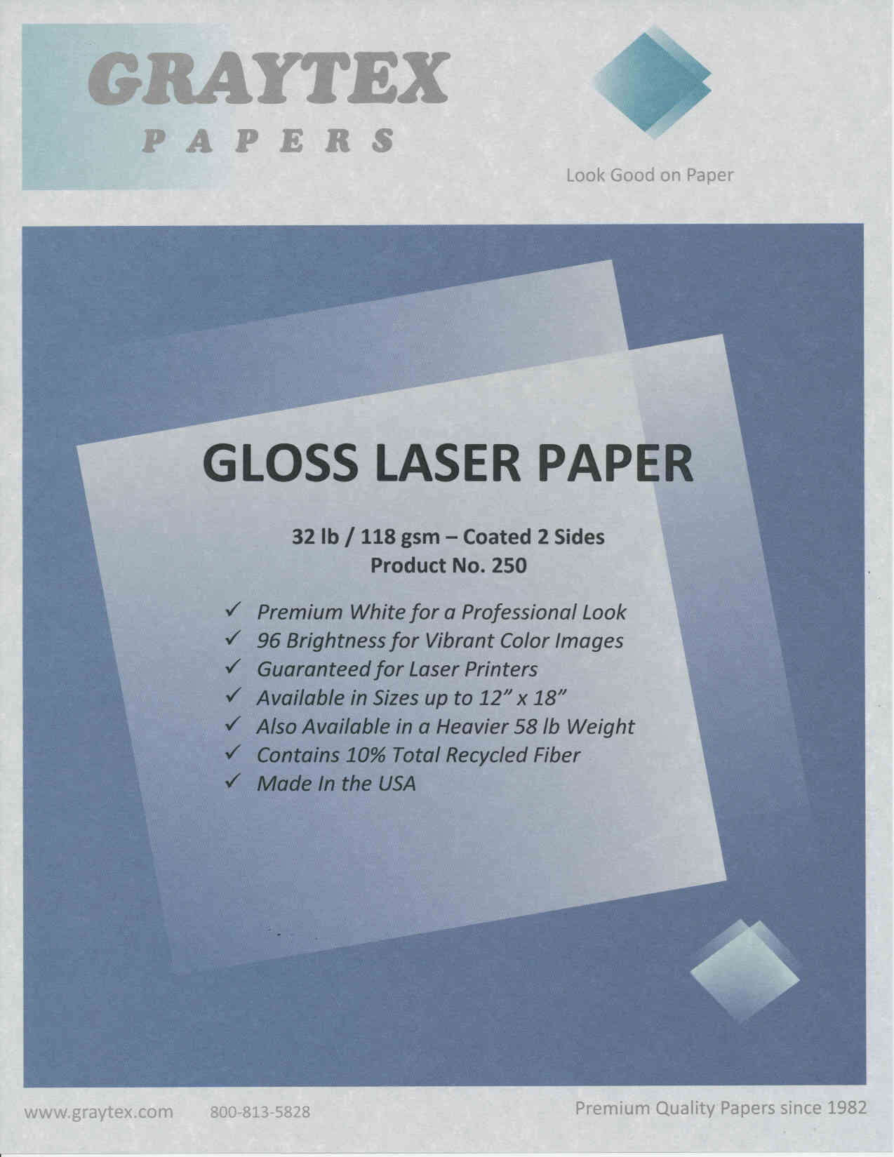 magazine like glossy brochure paper for color laser printers