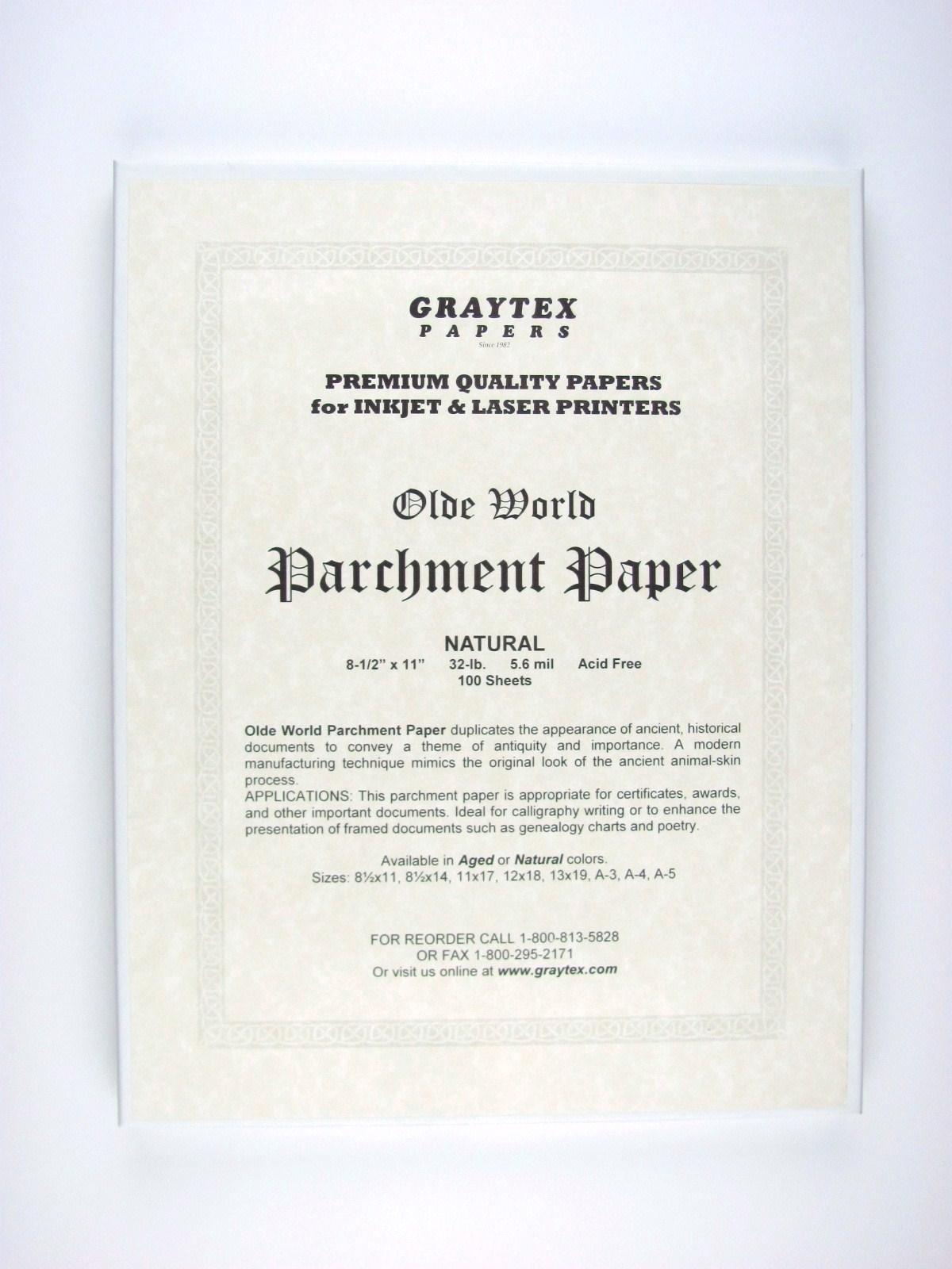Parchment Paper (Natural) - for Laser Printers